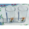 Lot de 2 verres Orangina 1986