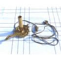 Bougeoir électrifié en bronze doré