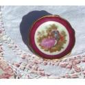 Assiette miniature en porcelaine de Limoges