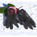 Paire de gants en plumetis