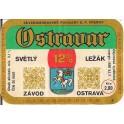 Etiquette Bière Ostravar 12%