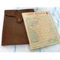 Etui en cuir contenant 11 cartes routières Renault  de 1914